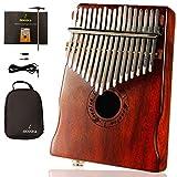 moozica 17-key EQ Kalimba, Koa Ton Holz E-Finger Daumen Piano integrierte Tonabnehmer mit 6,35mm Audio Schnittstelle und professionelle Kalimba Tasche