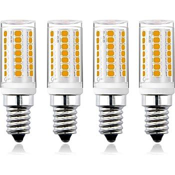 Bonlux 4W E14 Regulable LED Bombilla con 350 Lúmen, Reemplazo de 25-30W Bombilla Hálogena (4-Unidades, Luz Cálida 3000K)