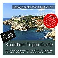 Kroatien Garmin Karte Topo 4 GB microSD. Topografische GPS Freizeitkarte für Fahrrad Wandern Touren Trekking Geocaching & Outdoor. Navigationsgeräte, PC & Mac