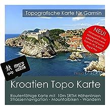 Croacia Garmin tarjeta Topo 4GB MicroSD. Mapa Topográfico de GPS Tiempo Libre para Bicicleta Senderismo Excursiones Senderismo Geocaching & Outdoor. Dispositivos de Navegación, PC & Mac