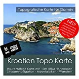Kroatien Garmin Karte Topo 4 GB microSD. Topografische GPS Freizeitkarte für Fahrrad Wandern Touren Trekking Geocaching & Outdoor. Navigationsgeräte