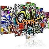 murando - Bilder 200x100 cm - Vlies Leinwandbild - 5 Teilig - Kunstdruck - Modern - Wandbilder XXL - Wanddekoration - Design - Wand Bild - Graffiti i-A-0103-b-p