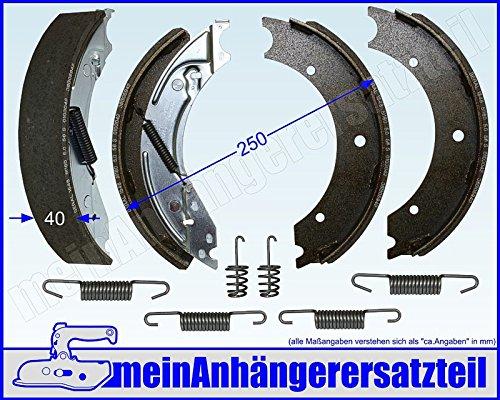 Bremsbackensatz Bremsbeläge für Knott BPW Schlegl Nieper Radbremsen - 250x40mm