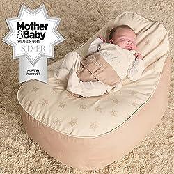 Bambeano® Baby Sitzsack - Natur – Inklusive kostenlosem 'Toddler Bean Bag' Bezug