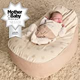 Bambeano® Baby Bean Bags Support Chair - with Free 'My 1st Bean Bag' Cover - Luxury Cuddle Soft Cotton (Natural Cream)