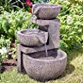 Smart Garden Solar Genoa Cascade Oriental Garden Water Feature Fountain