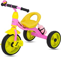 GoodLuck Baybee - Children Plug and Play Kids Tricycle Trike with Water Bottle Kid's for 2-5 Years Baby Tricycle Ride on Outdoor | Suitable Babies for Boys & Girls - (Pink)