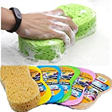 Home Cube® Super Absorbent Cleaning Sponge Scrubber for Car Cleaning/Home Cleaning Purpose 1 Piece. (Random Colors)