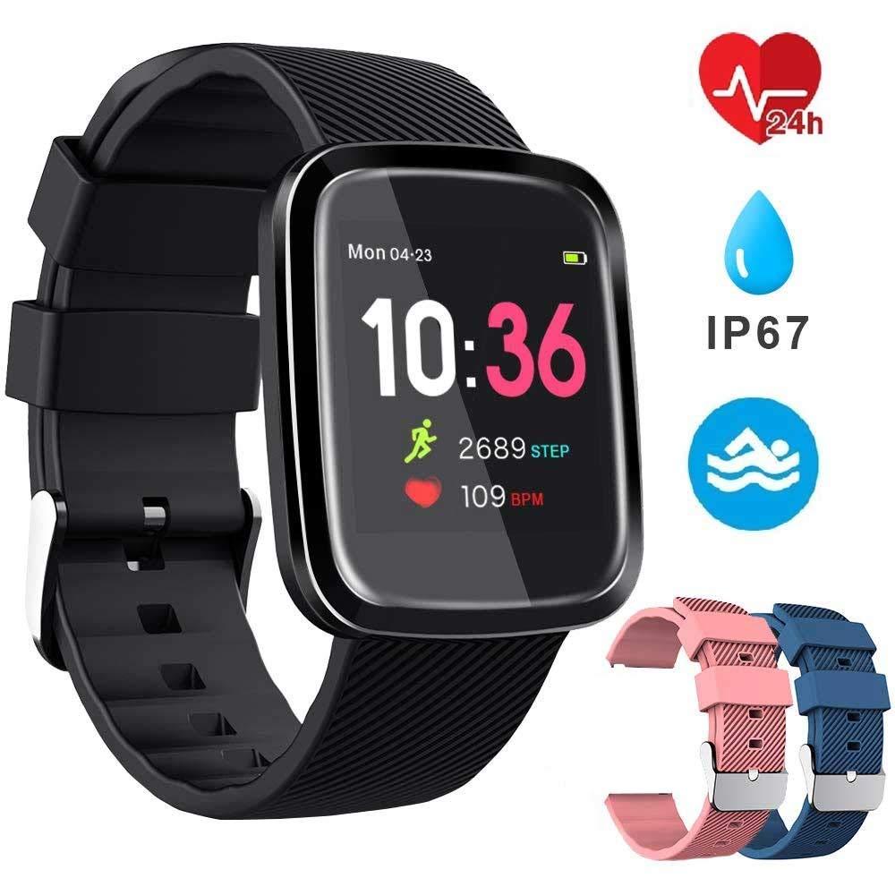 EUMI Smartwatch, Reloj Inteligente con IP67, Pulsera Actividad Inteligente Batería 10-15 días 1.3'' a Color 8… 1