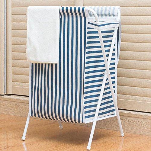 Sql pieghevole vestiti sporchi cestino vestiti impermeabili con coperchio cesti di stoccaggio in tessuto oxford , blue