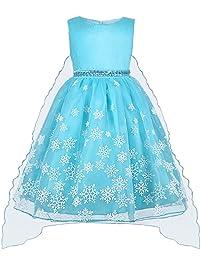 9b35d7a3c Vicloon - Disfraz de Princesa Elsa Capa Disfraces Belle Vestido y  Accesorios para Niñas