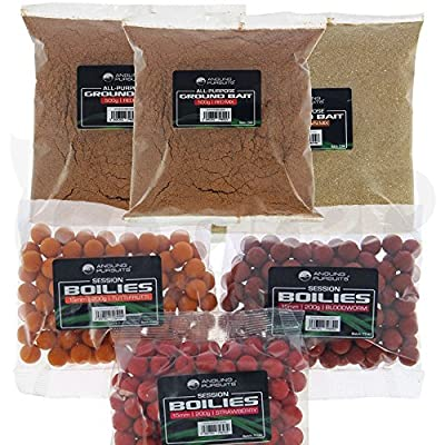 Carp Coarse Fishing Bait Set 3 x Packs Of 200g Boilies And 600g Groundbait Mixed Flavours FOR ALL ANGLERS from Angling Persuits