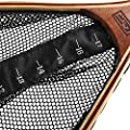 Forfar wooden landing net Fly Fishing Trout Landing Nylon Net with Mesh Bag Catch and Release SF Vintage Frame Sports from Forfar