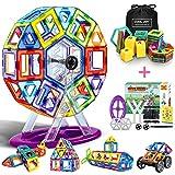 DOOKEY Bloques de Construcción Magnéticos 3D con Matemáticas y Alfabeto, Juguete Educativo y Creativo para Niños más de 3 Años - 117 Piezas - Material ABS - Mejor Regalo de Cumpleaños y Fiestas
