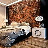 murando - Fototapete Ziegel Optik 400x280 cm - Vlies Tapete - Moderne Wanddeko - Design Tapete - Wandtapete - Wand Dekoration - Steintapete Steine Brick Mauer Ziegel rot Mauer f-B-0128-a-a