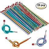 Goldge 35 PCS Bunt Biegebleistift,Flexible Biegsame Bleistifte,Biegbare Bleistifte, Magic Biegebleistift für Kinder,Party und kleiner Geschenke