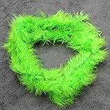 Ukallaite 2m Federboa, flauschige, dressup für Junggesellinnenabschied, Kostüm, Fasching, Feder, grün, Einheitsgröße