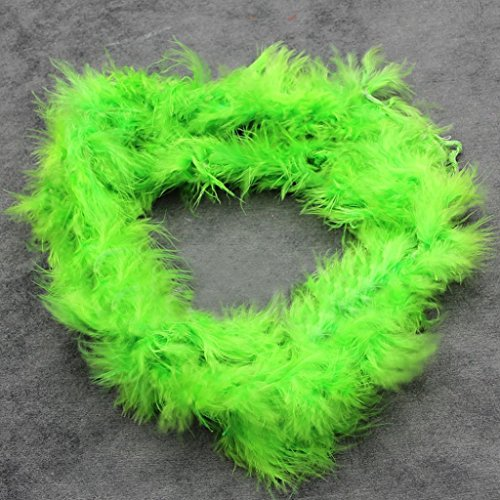 Ukallaite 2m Federboa, flauschige, dressup für Junggesellinnenabschied, Kostüm, Fasching, Feder, grün, - Grüne Dress Up Kostüm