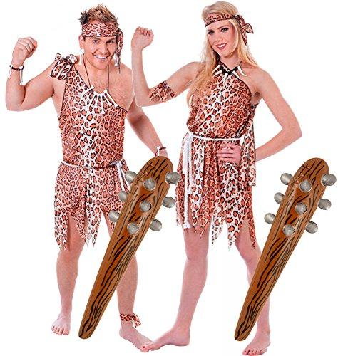 Kostüme Und Caveman Cavewoman (Couples Caveman & Cavewoman Déguisement gonflable 2)