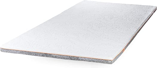 JONA SLEEP Topper 90x200 cm Latex | Matratzen-Schoner Bett Komfort Auflage Gästebett | Abnehmbarer Waschbarer Bezug | Naturlatex | Zertifizierte Qualität | 30 Nächte Probeschlafen | 3 Jahre Garantie
