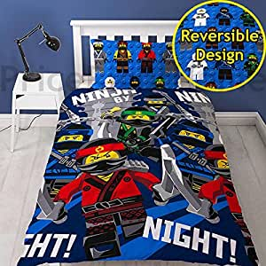lego ninjago movie parure de lit lego ninjago multicolore pour lit simple. Black Bedroom Furniture Sets. Home Design Ideas