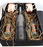 Moscow Mule Set / Geschenkset - Belvedere Vodka 70cl (40% Vol) + 2x Goldberg Kupferbecher + 2x Goldberg Intense Ginger 200ml