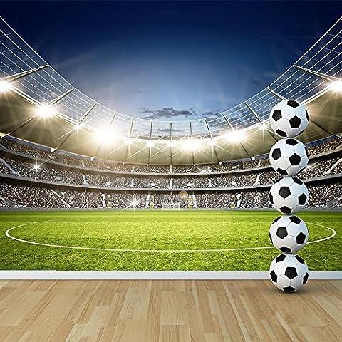 En el estadio de fútbol Deporte y Ocio Noche Mural Juegos Foto del papel pintado disponible en 8 tamaños XXX-Large