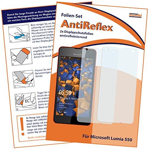 mumbi Schutzfolie kompatibel mit Microsoft Lumia 550 Folie matt, Bildschirmschutzfolie (2x)