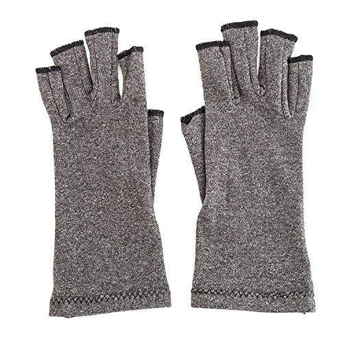 YTYCJSFH Fingerlose Kompression Arthritis Handschuhe - Rutschfeste Handschuhe für rheumatoide Arthrose, Gelenkschmerzen, Computer-Typing, tägliche Arbeit - Unisex für Männer und Frauen (M-Code) -