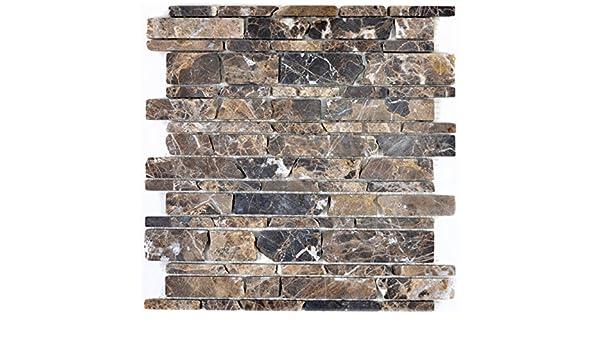 Mosaik Fliese Marmor Naturstein beige Castanao f/ür BODEN WAND BAD WC DUSCHE K/ÜCHE FLIESENSPIEGEL THEKENVERKLEIDUNG BADEWANNENVERKLEIDUNG Mosaikmatte Mosaikplatte