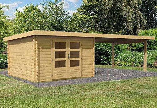 Karibu Woodfeeling Gartenhaus Bastrup 5 mit Schleppdach 4 Meter Außenmaß Haus (B x T): 297 x 297...