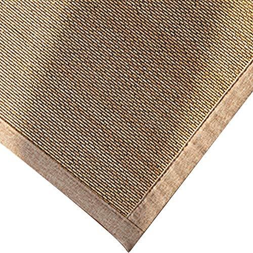 JIAJUAN Quadrat Natürlich Ballaststoff Bambus Geflochten Teppich Wohnzimmer Fußboden Matte Sommer Cool Pad Matratze Innen- Draussen (Farbe : B, größe : 120x180cm) -