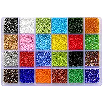 18000pcs 12//0 + Storage Box Glass Seed Beads silver lined 1.5mm 100gram