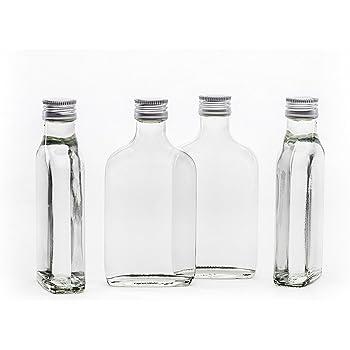 20 vuoto 200ml Tashi piccolo bottiglia di vetro vuota con tappo a vite 200 ml pronto per essere imbottigliato bottiglie 0.2 litri l di liquore bottiglie di liquore bottiglie di aceto di bottiglie di olio altezza 15,5 cm di slkfactory