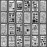 Bullet Tagebuch Schablonen, evneed 24-teilig, Kunststoff Planer Schablonen Journal/Notebook/Diary/Scrapbook DIY Elektroinstallationssymbole, 10,2x 17,8cm