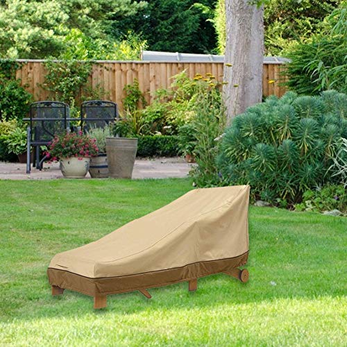 Mississ   Chaise Lounge Cover 100 wasserdicht atmungsaktiv Patio Lounge Chair Cover Heavy Duty Outdoor Veranda Chaise Lounge Covers Größe für Veranda Patio Garden modern