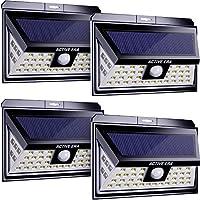 Active Era 44 Luces LED Exteriores de Seguridad - Alimentadas por Energía Solar y con Sensor de Movimiento - Resistentes al Agua (4 Paquete)