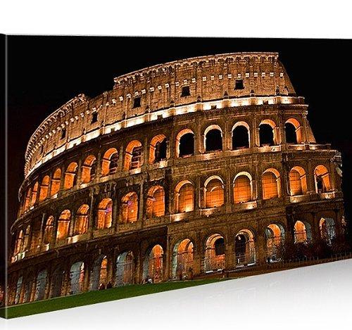 Bild Bilder auf Leinwand Colosseo Rom Kolosseum 1p XXL Poster Leinwandbild Wandbild Dekoartikel Wohnzimmer Marke islandburner