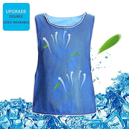 FOONEE Aufgerüstet Ice Vest Cooling, Kühlweste Für Männer/Frauen PVA Summer Air Cooling Sport Bekleidung Für Angeln, Radfahren, Laufen, Kochen(Gitter doppelseitig) -