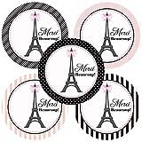 Adorebynat Party Decorations - EU Paris Merci Beaucoup Sticker - Anniversaire de Baby Shower de soirée de Mariage Nuptiale Favors - Lot de 50