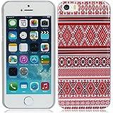 für iPhone 5 5G 5S(kann nicht passen 5C) rot ethischen ethnisch Streifen Stil hülle schale abdeckung case cover