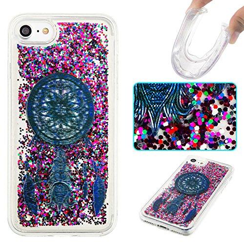 Ooboom® iPhone 5SE Hülle TPU Silikon Bumper Schutzhülle Handy Tasche Case Cover mit Funkeln Glänzend Bling Glitter - Gold Blätter Schwarz Traumfänger