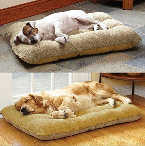 Komia Hundebett für Hund Outdoor Indoor 95cm X 60cm Hundebett Square Bett für hunde Beseitigung Falsche Sherpa