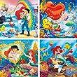 Clementoni 20543.1 - Rahmenpuzzle, Arielle die kleine Meerjungfrau, 4 x 6 Teile