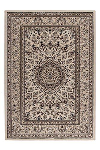Beige Persische Wolle Teppich (Lalee 347254316 Sehr Hochwertiger, orientalischer Medaillon Teppich in bester Qualität, 160 x 230 cm, creme)