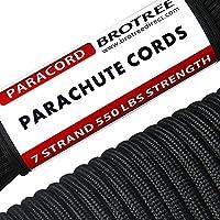 Brotree Paracorde 550 Corde Parachute 7 Brins en Nylon Corde de Survie Type III Spécification Militaire 31M