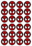 Topper per torta, commestibili, alla vaniglia, in carta di riso, motivo: Spiderman #3,