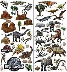 Idea Regalo - Adesivo da parete con i dinosauri di Jurassic World, effetto 3D, per decorare la cameretta di bambini e bambine - XL 73 x 76 cm