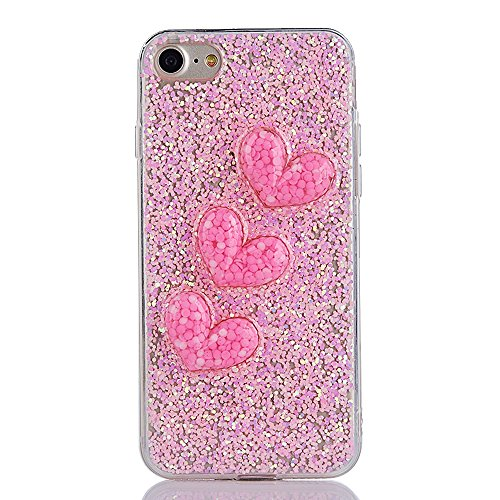 """Soft TPU Silicone Cover pour Apple iPhone 6/6s 4.7"""", CLTPY 2in1 Jelly Bling Diamant Série Case avec Plaquage Bord Incurvée Résistant Aux Rayures Couverture pour iPhone 6,iPhone 6s + 1x Stylet - Champa Pink"""