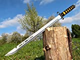 Wunderschöne leichte Zweihand Machete 70 cm Messer Knife Coltello Couteau нож M001